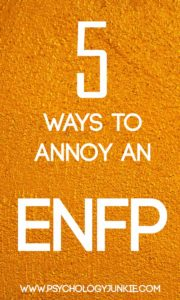 5 Ways to Annoy an #ENFP #MBTI