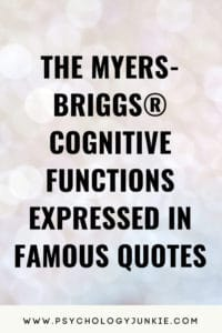 Find out what the cognitive functions REALLY are and what they say about your #personality type! #MBTI #INFJ #INTJ