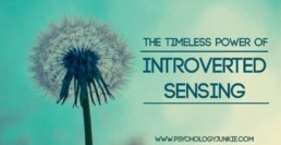 Discover the beauty and truth about #Si or introverted sensing