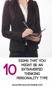 10 signs that you're an extraverted thinker! #INTJ #ISTJ #ENTJ #ESTJ #MBTI