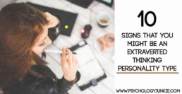 10 signs that you might be an extraverted thinking personality type! #INTJ #ISTJ #ENTJ #ESTJ #MBTI