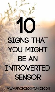 10 signs that you might be an introverted sensing personality type! #ISTJ #ISFJ #ESFJ #ESTJ #MBTI