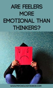 Are feelers really more emotional than thinkers? #MBTI #INFJ #INFP #ENFJ #ENFP #ISFJ #ISFP #ESFJ #ESFP