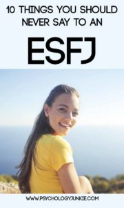 What NEVER to say to an #ESFJ! #MBTI