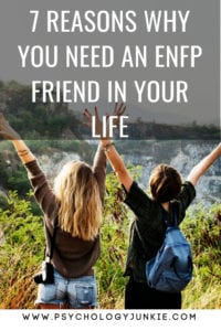 7 Reasons Why an #ENFP Friend is Completely Unforgettable! #Myersbriggs #personality #MBTI #friendship