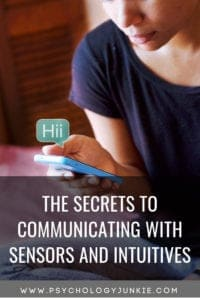 How to communicate effectively with #sensors and #intuitives! #Intuition #personalitytype #personality #MBTI #Myersbriggs #INFJ #INTJ #INFP #INTP #ENFJ #ENTJ #ENFP #ENTP #ISTJ #ISFJ #ESTJ #ESFJ