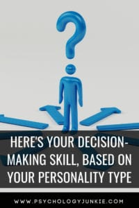 Find out your skill when it comes to decision making, based on your #personality type. #MBTI #Myersbriggs #INFJ #INTJ #INFP