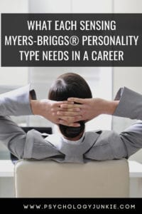 Find out what each sensing #personality type needs in a career! #MBTI #ISTJ #ISFJ #ISTP
