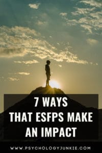 Explore seven ways that ESFPs make a huge difference in our world! #ESFP #MBTI #Personality