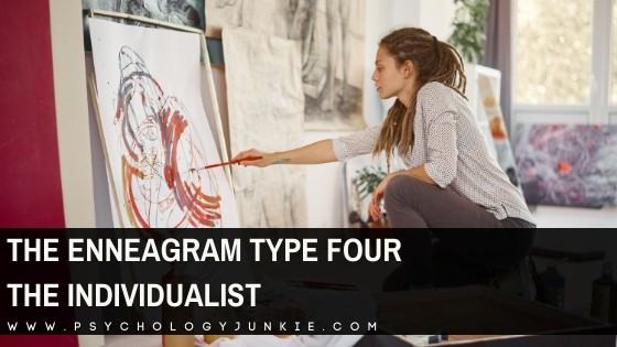 An in-depth look at the enneagram four personality type. #enneatype #enneagram #four