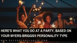 A humorous look at how each personality type would show up at a party. #MBTI #Personality #INFJ #INTJ #INFP #INTP