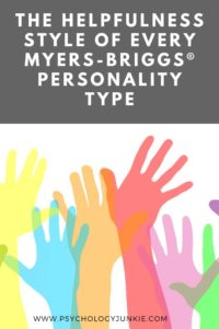 Take a look at how each personality type likes to help the people they care about. #MBTI #Personality #INFJ #INFP