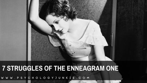 Get an in-depth look at the unique struggles of the enneagram one personality type. #enneagram #one #enneatype