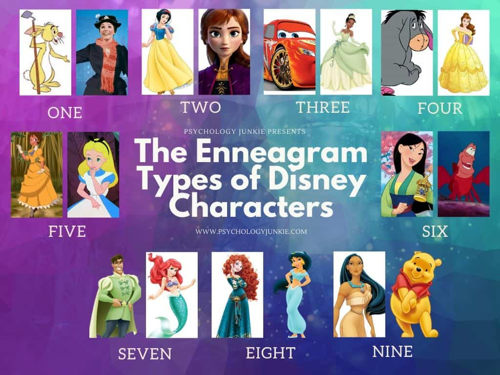 Find out which #Enneagram types some of your favorite #Disney characters have! #Enneatype #Personality