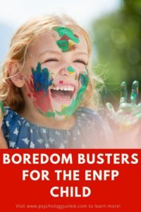 Get some creative ideas for keeping an #ENFP child occupied! #MBTI #Personality