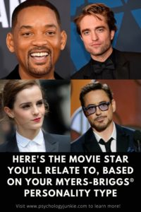 Find out which famous movie star has the same Myers-Briggs® personality type as you do! #MBTI #Personality #INFJ #INFP
