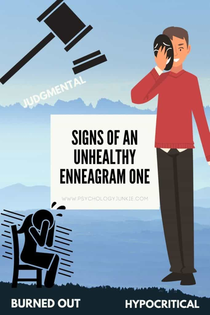 Here's an in-depth look at the unhealthy behaviors of the Enneagram One. #Enneagram #Personality #Enneatype