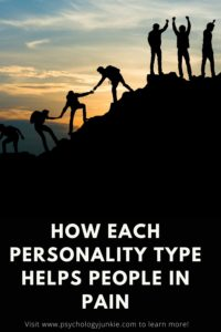Find out how each Myers-Briggs® personality types likes to help people who are struggling or in pain. #MBTI #Personality #INTJ #INFJ