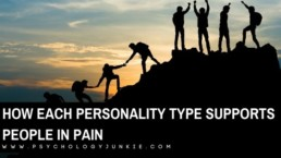 Find out how each Myers-Briggs® personality type helps people who are struggling or in pain. #MBTI #Personality #INFJ #INFP