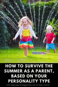 The summer can be a beautiful and overwhelming time for many parents, and there are some unique struggles that each personality type faces when dealing with children. This article is packed with tips for managing the summer craze without losing your mind! #MBTI #Personality #INFJ #INFP #INTJ #ENFP