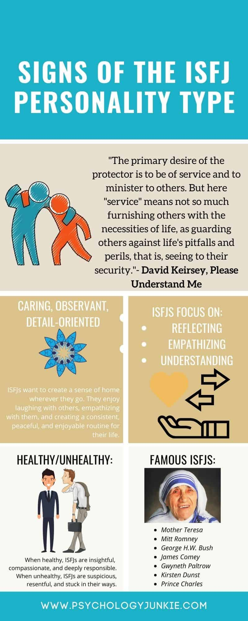 Get an in-depth look at what it's like to be an #ISFJ. #Infographic #MBTI