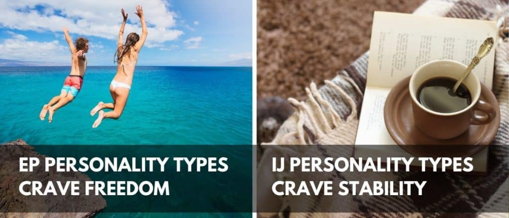 The differences between EP and IJ personality types