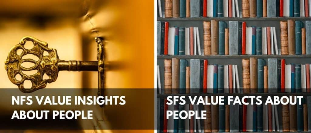 Differences between NF and SF personality types