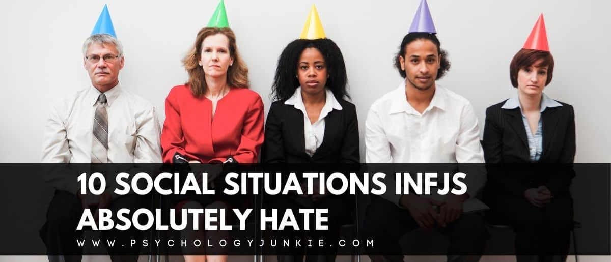 Discover the social situations that make #INFJs really cringe inside. #INFJ #Personality #MBTI