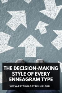 Get a look at how each #Enneagram type makes decisions. #Personality #Enneatype