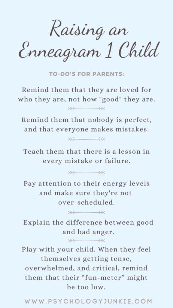 TIps for raising a happy Enneagram One child! #Enneagram #Personality