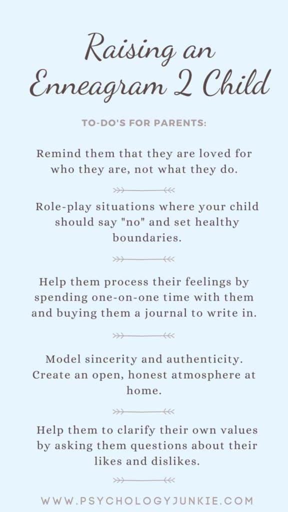 Tips for raising a healthy Enneagram Two child. #Enneagram #Personality
