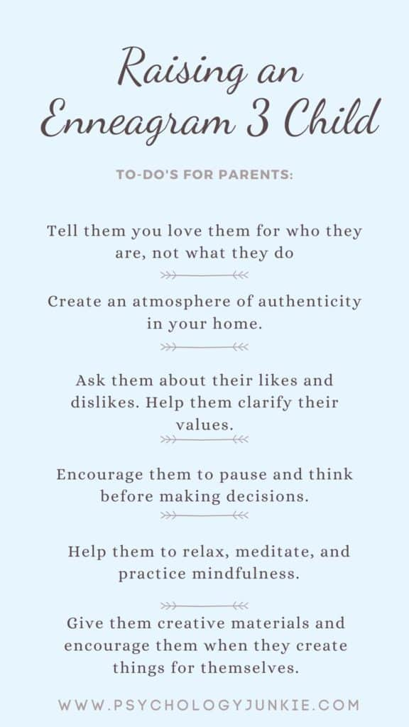 Get tips and techniques for raising an Enneagram 3 child. #Enneagram