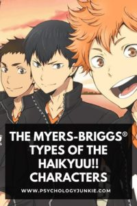 Discover the Myers-Briggs types of each of the prominent Haikyuu!! characters! #MBTI #personality #INFJ #INFP