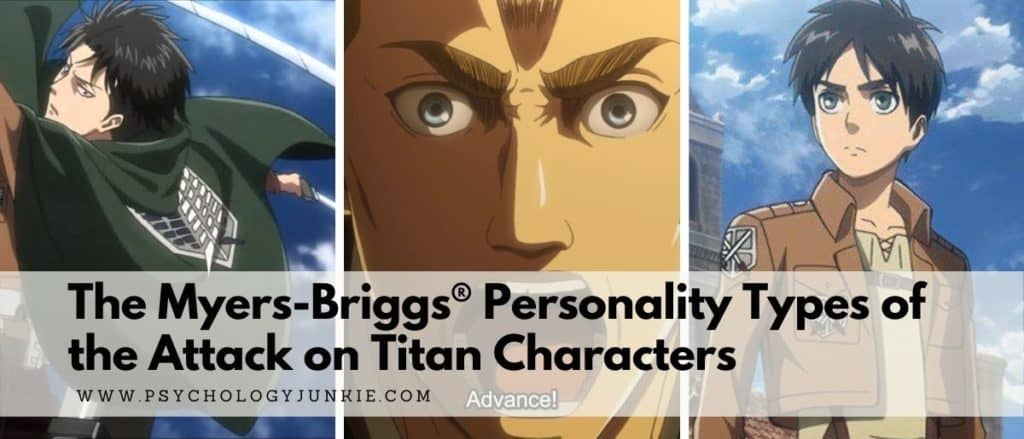 Get an in-depth look at the Myers-Briggs personality types of the Attack on Titan characters #MBTI #Personality #INFJ