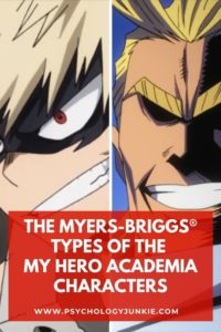 Discover the Myers-Briggs® types of your favorite My Hero Academia characters! #MBTI #Anime #Personality