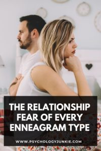Find out what each Enneagram type fears when it comes to dating and relationships. #Enneagram #Personality