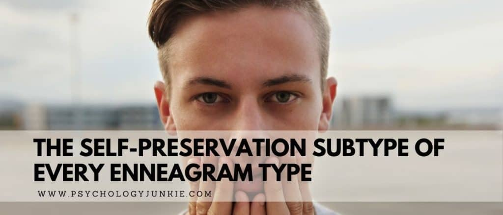 Get an in-depth look at the self-preservation subtype of each Enneagram type. #Enneagram #Personality