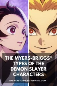 Discover the Myers-Briggs® types of the characters from the Demon Slayer anime and manga series. #MBTI #Personality