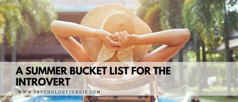 The Introvert's Ultimate Summer Bucket List