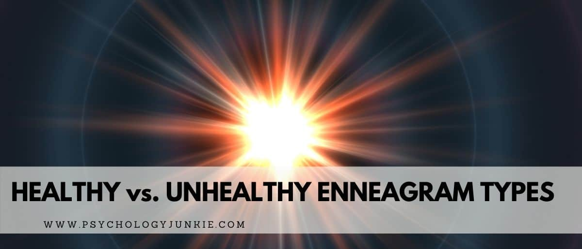Compare and contrast the healthy vs unhealthy versions of each of the 9 Enneagram types. #Enneagram #Personality