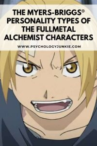 FULLMETAL ALCHEMIST MYERS-BRIGGS PERSONALITY TYPES